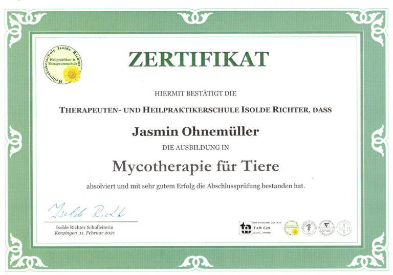 Mycotherapie für Tiere
